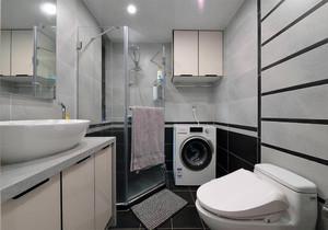 长方形卫生间洗衣机布局图