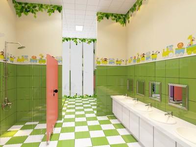 幼儿园卫生间瓷砖装修效果图,幼儿园卫生间开放式装修效果图
