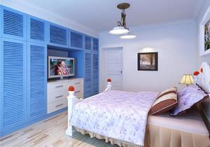 现代中式蓝色卧室装修效果图现代,现代中式小卧室装修效果图大全