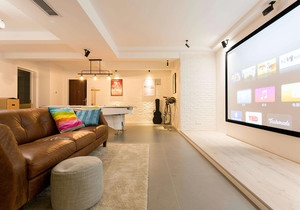 投影客厅装修效果图,装投影仪的客厅怎么装修效果图