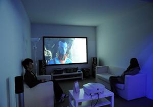 客厅投影仪隐藏效果图,客厅隐藏投影仪效果图
