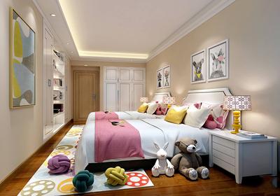 现代简约儿童房装修效果图,儿童房简约风格装修效果图