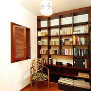 书房中式局部别墅装修