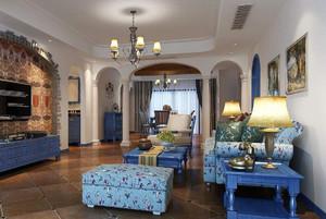客厅地中海风格装修效果图,偏地中海风格客厅装修效果图