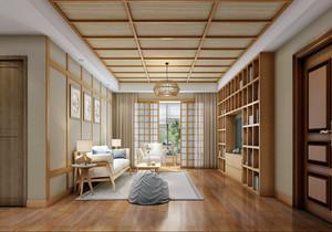 简约日式原木风格装修效果图,日式简约原木风格装修效果图