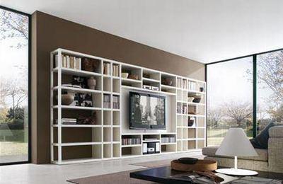 现代欧式简约风格电视背景墙