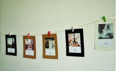 欧式混搭照片墙效果图