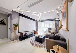 客厅投影仪安装效果图,五米高客厅投影仪安装效果图