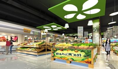 100平米超市效果图,小型生活超市装修效果图