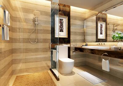 仿古砖卫生间装修效果图,中式仿古砖卫生间装修效果图大全
