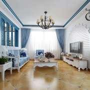 客厅地中海局部90平米装修