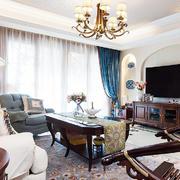 客厅简约吊顶一居室装修