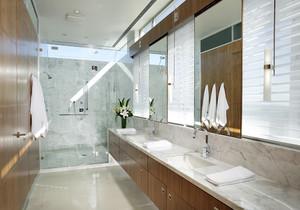卫生间干湿分区装修效果图,简易干湿分区卫生间装修效果图