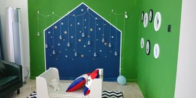 儿童摄影店装修效果图,儿童摄影小型店装修效果图
