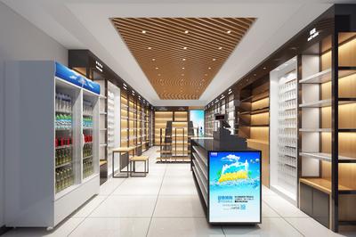 小型超市的装修效果图,100小型超市装修效果图