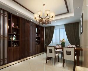 中式客餐厅一体效果图,50平米中式客餐厅一体效果图大全