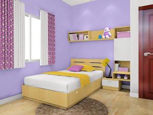 儿童房6平米卧室怎么装修,6平米紫色卧室装修效果图