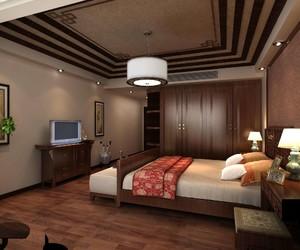现代新中式卧室效果图,现代新中式红木家具卧室效果图