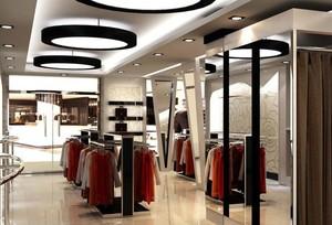 90平米简约风格服装店室内装修效果图欣赏