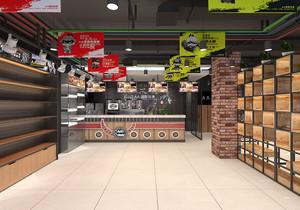 奶茶小吃店面装修效果图,40平方小吃店面装修效果图