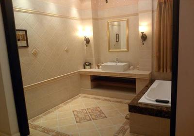 美式卫生间仿古砖装修效果图,卫生间马可波罗仿古砖装修效果图