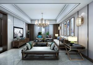 新中式禅意阳台装修效果图,新中式主卧加阳台装修效果图