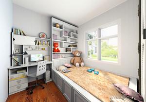 简约儿童房书房电脑房装修效果图,现代简约风格儿童房装修效果图