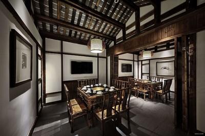 火锅店屋顶设计效果图,个性创意火锅店设计效果图