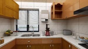 新中式风格u型厨房橱柜效果图,新中式风格厨房效果图大全2019图片
