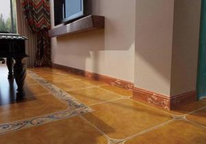 踢脚线瓷砖效果图,地砖与踢脚线效果图