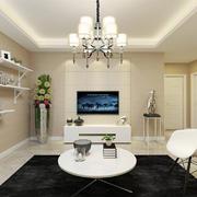 客厅现代榻榻米80平米装修