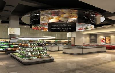 超市的吊顶装修效果图大全,超市最新吊顶装修效果图