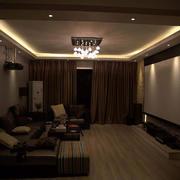 客厅简约背景墙大户型装修