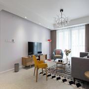 客厅现代电视墙一居室装修