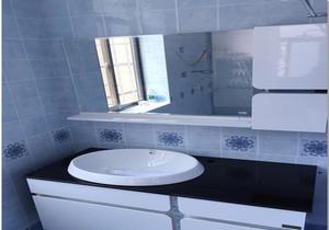蓝色卫生间瓷砖装修效果图,蓝色砖卫生间装修效果图大全