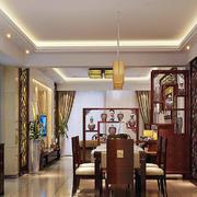 客厅中式博古架大户型装修