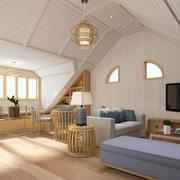 客厅现代阁楼100平米装修
