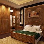 卧室中式衣柜一居室装修