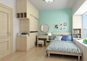 墙式床头柜装修效果图,卧室飘窗加床头柜装修效果图