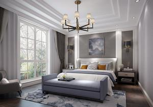 简欧白色装修配深色家具效果图,白色系装修配备深色系家具效果图