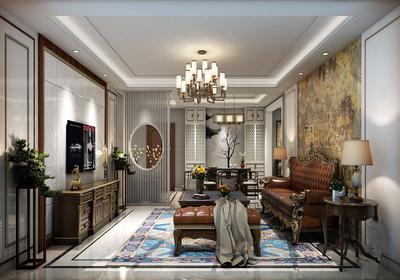 欧式装修配深色家具效果图,深色海棠家具装修效果图