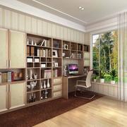 阳台现代书柜90平米装修