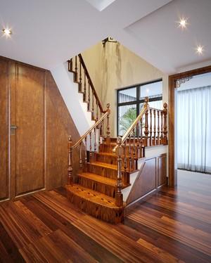 别墅中式楼梯地板装修效果图欣赏,别墅一楼二楼地板装修效果图