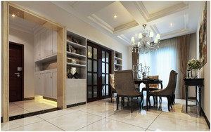 别墅客厅与餐厅连体装修效果图,客厅与餐厅连体玄关效果图
