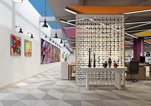 科技感强的公司大厅装修效果图,未来科技感公司装修效果图