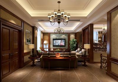 欧式深色家具装修效果图,原木深色家具装修效果图