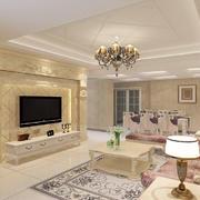 客厅简欧地板大户型装修