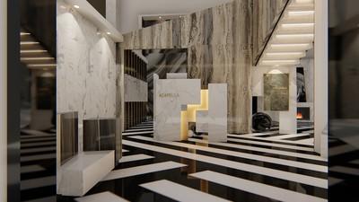 石材展厅装修效果图,石材展厅门头效果图