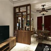 客厅中式博古架一居室装修