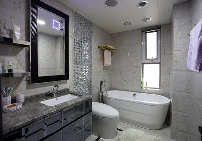 卫生间仿古砖装修效果图,仿古砖卫生间瓷砖装修效果图